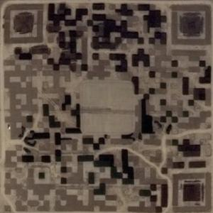 Giant QR Code made of trees (Google Maps)