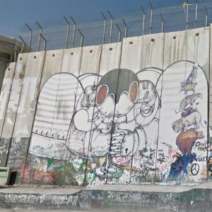 West Bank Barrier in Bethlehem (StreetView)