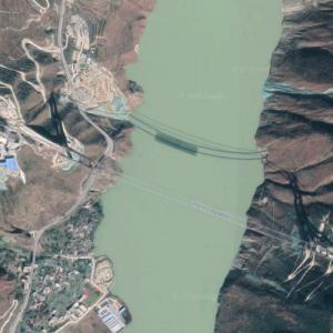 Luding Yaye Expressway Bridge under construction (Google Maps)