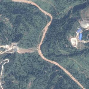 Sunxi River Bridge under construction (Google Maps)