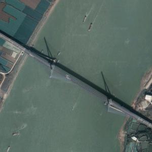 Dunkou Yangtze River Bridge (Google Maps)