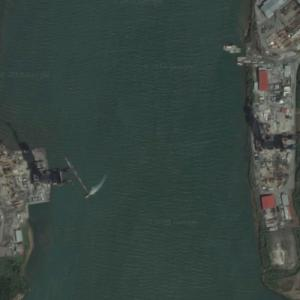 Atlantic Bridge, Panama under construction (Google Maps)