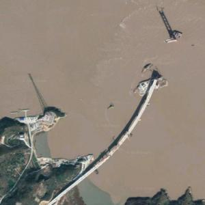 Xiushan Bridge under construction (Google Maps)