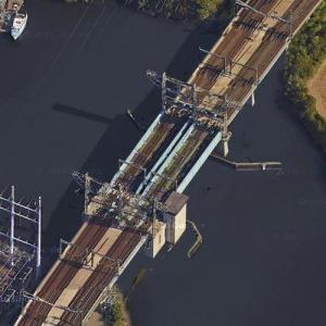Pequonnock River Railroad Bridge In Bridgeport Ct