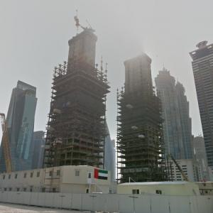 Tiara United Towers under construction (StreetView)