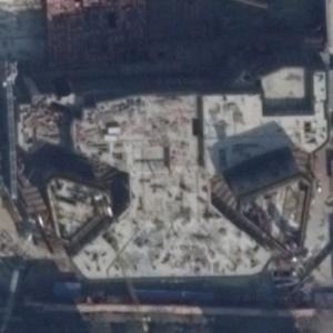 Central International Plaza Towers under construction (Google Maps)