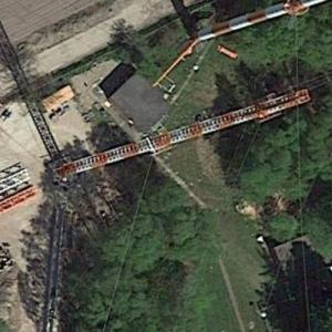 New Steinkimmen Broadcasting Mast under construction (Google Maps)