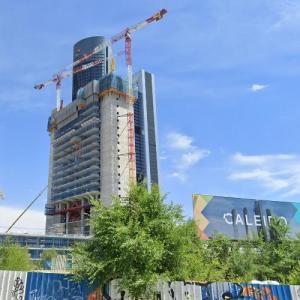 Torre Caleido under construction (StreetView)