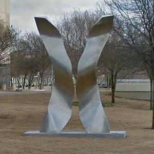'Undulating X' by Ali Baudoin (StreetView)