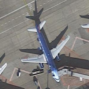 """Brussels Airlines Airbus A320 """"Magritte"""" at BRU (Google Maps)"""