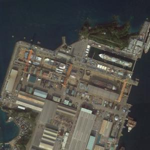 World's Largest Dry Dock @ Mitsubishi Heavy Industries (Google Maps)