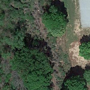 """Walker stuck on railroad tracks (""""The Walking Dead"""") (Google Maps)"""