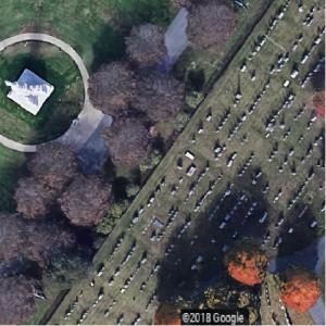 Probable actual spot where Lincoln delivered the Gettysburg Address (Google Maps)