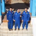 NASA astronaut and two Cosmonauts