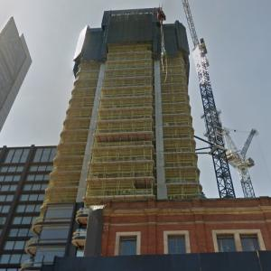 'Principal Tower' by Norman Foster under construction (StreetView)