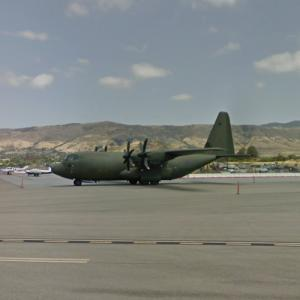 Royal Air Force C-130 in California (StreetView)