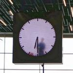 "Maarten Baas' ""Real Time"" clock at Schiphol Airport"