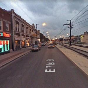 Overcast Chicago at Dusk (StreetView)