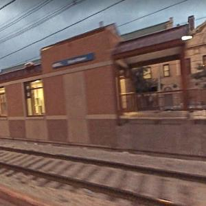 Bryn Mawr Station at Dusk, 71st Street. and Jefferey Avenue (StreetView)
