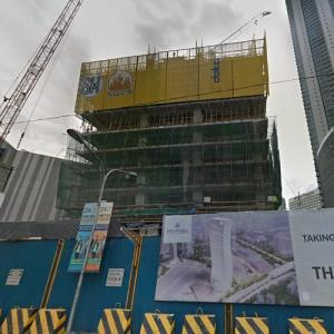 SM Megamall Tower under construction (StreetView)
