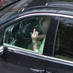 Middle Finger to Street View Car Outside Jared and Ivanka's House (StreetView)