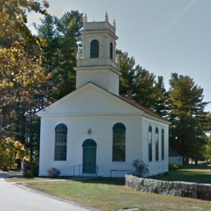 Newington Meeting House (oldest church in New Hampshire) (StreetView)
