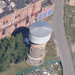 Waldhof Papierfabrik Papyrus water tower (Google Maps)