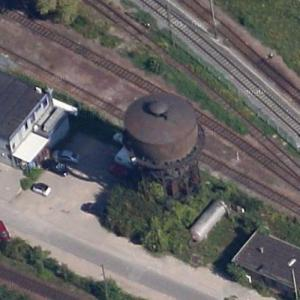 Rangierbahnhof Neckarau railway water tower (Google Maps)