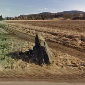 "West Cowden ""Roman Stone"" Standing Stone (StreetView)"