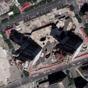 Star Harbor International Centre Towers under construction (Google Maps)