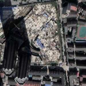 Shenyang Eton Center Towers under construction (Google Maps)