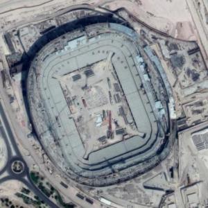 Qatar Foundation Stadium under construction (Google Maps)