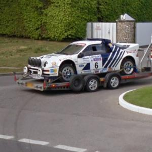 Ford RS200 waiting patiently outside of Goodwood Motor Circuit (StreetView)