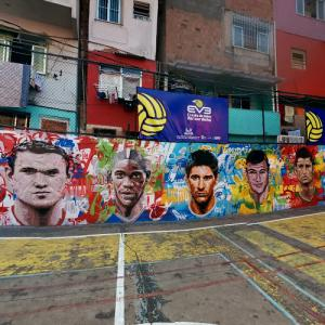 Soccer players mural (StreetView)