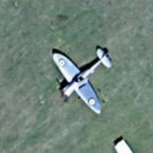 Supermarine Spitfire at Old Sarum Airfield (Google Maps)