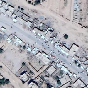 Dahyan air strike (8/9/18) (Google Maps)