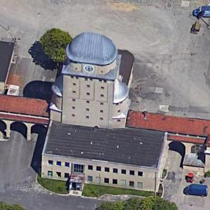 Augsburg gasworks and water tower (Google Maps)