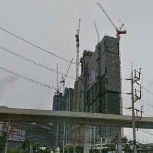 Plum Condo Central Station Towers under construction (StreetView)