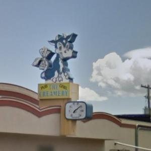 Cow Sign (StreetView)