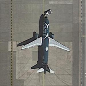 """JetBlue Airbus A320-200 """"NY Jets"""" livery at SEA (Google Maps)"""