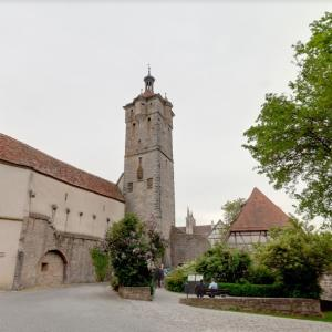 Rothenburg ob der Tauber water tower (StreetView)