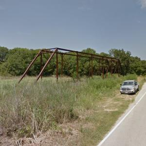 Sam Bass Road Bridge at Clear Creek (abandoned) (StreetView)