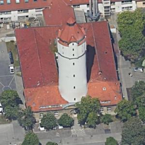 Rudolf Virchow hospital water tower (Google Maps)