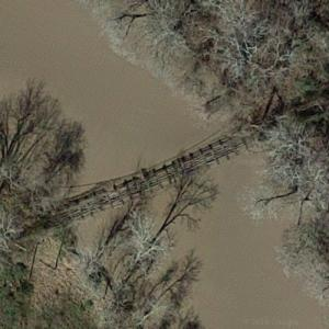 Dalton Suspension Bridge (abandoned) (Google Maps)