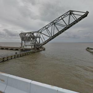 NS - Lake Pontchartrain Trestle (longest rail bridge in America) (StreetView)