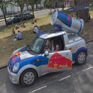 Red Bull Mini in Bristol (StreetView)