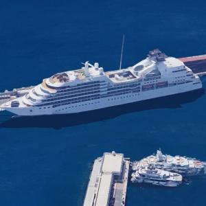 MV Seabourn Odyssey in Port Hercules (Google Maps)