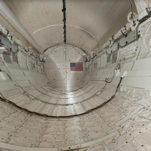 Cargo bay of the Space Shuttle Discovery (StreetView)