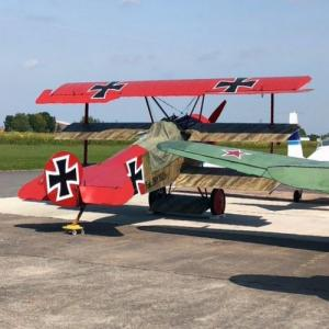 """The Red Baron's"" Fokker Dr.I replica (StreetView)"