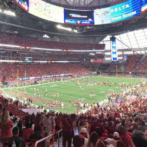 Florida State vs Alabama at Mercedes-Benz Stadium (StreetView)